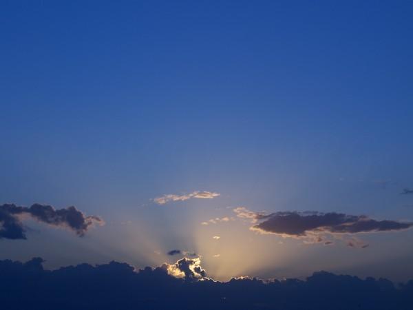 室蘭の夕陽