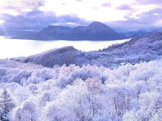 今月の壁紙: 洞爺湖の樹氷