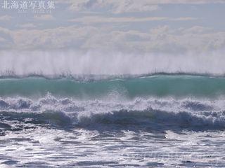 今月の壁紙: イタンキ浜の大波