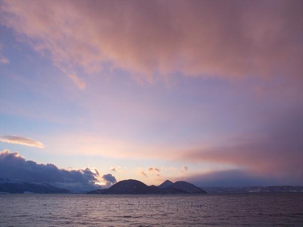 洞爺湖の夕陽の写真