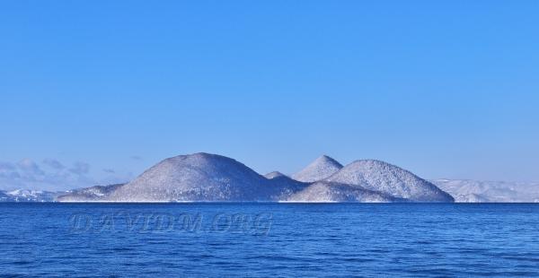 晴れの洞爺湖の写真