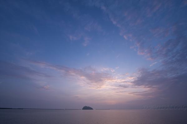 室蘭の夕景の写真