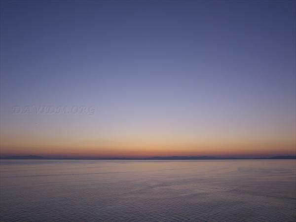 噴火湾の夕景