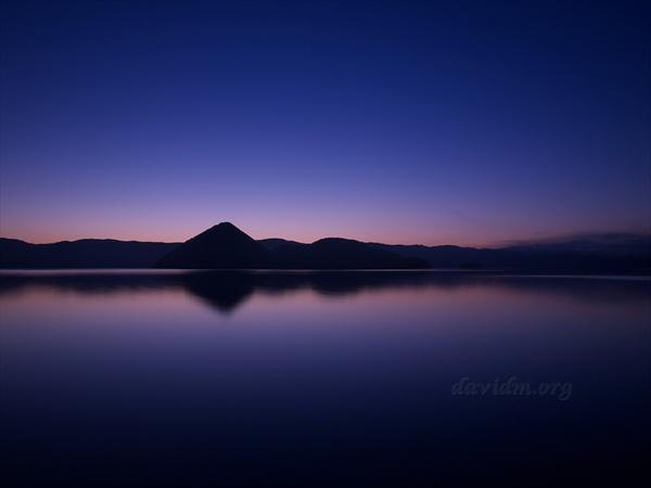 洞爺湖月浦の朝