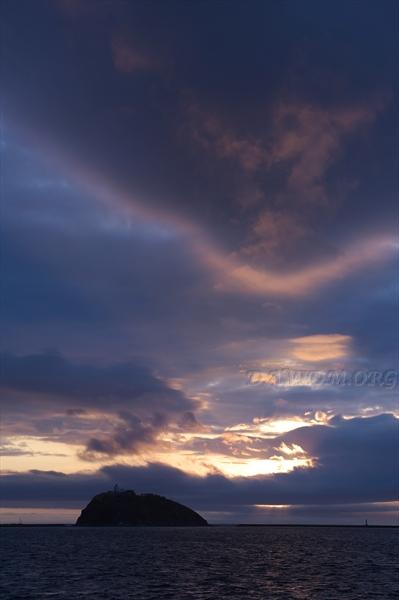室蘭の夕陽の写真