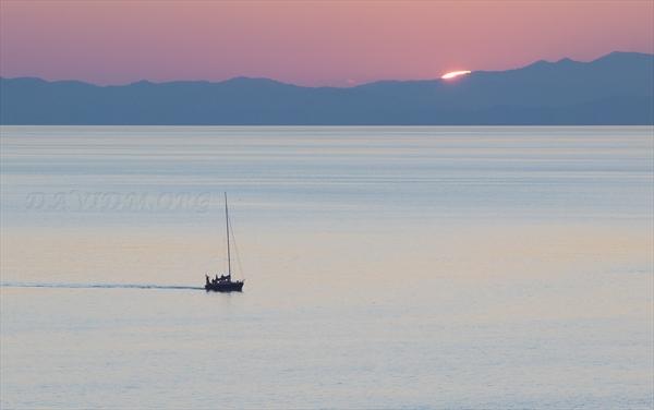 日没の室蘭港