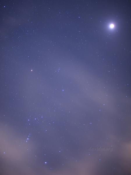 皆既月食と星空