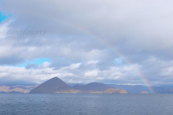 洞爺湖の虹