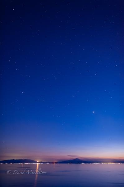 噴火湾の夕暮れ