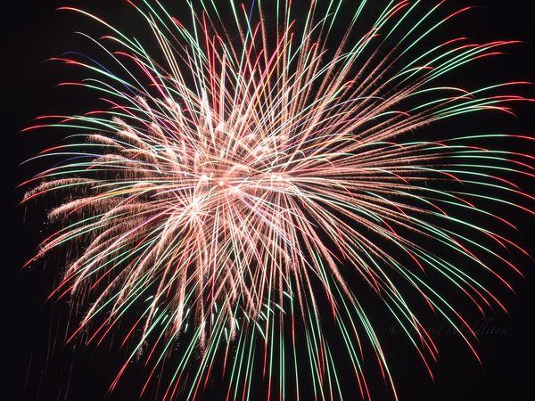 洞爺湖の花火の写真