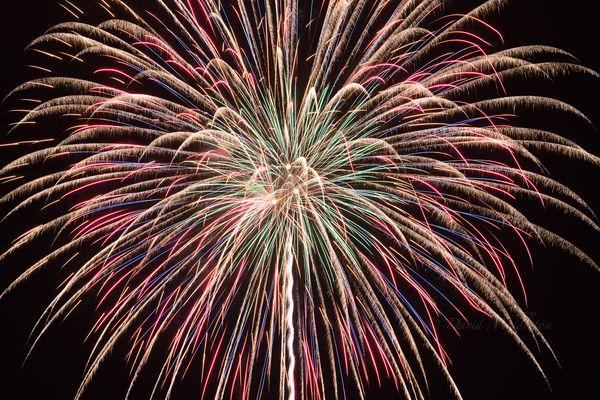 洞爺湖の花火