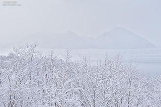 今月の壁紙: 洞爺湖の冬景色