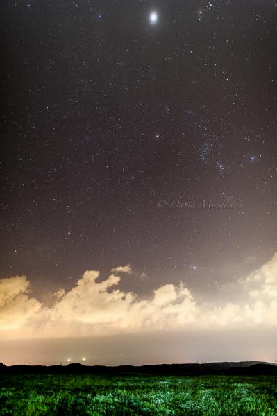 オリオン座と木星