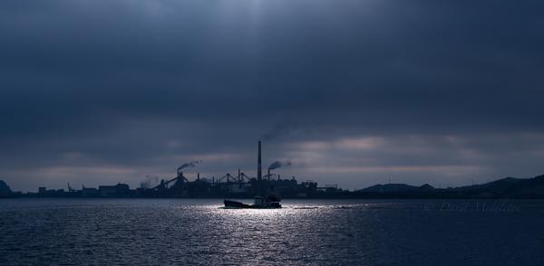 室蘭港の朝