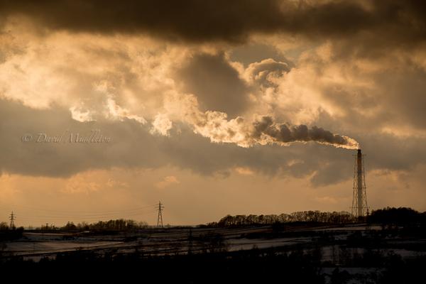 発電所の煙