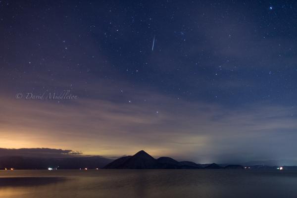 洞爺湖と双子座流星群
