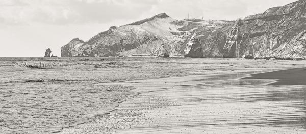 雪景色のイタンキ浜