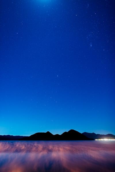 洞爺湖と星と霧