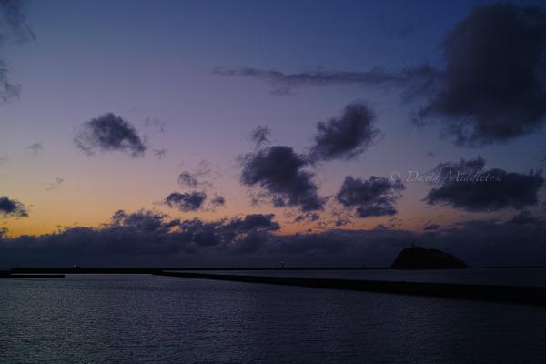 夕暮れの大黒島