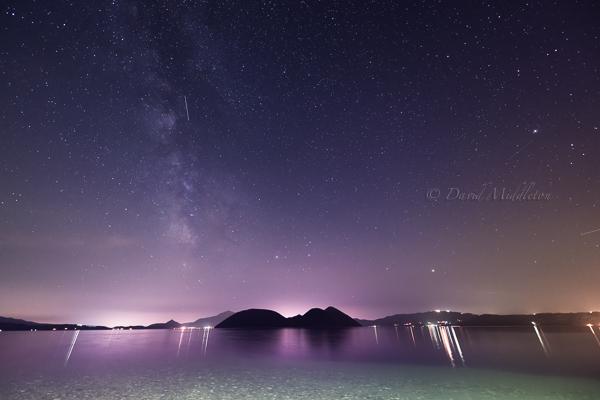 洞爺湖と天の川