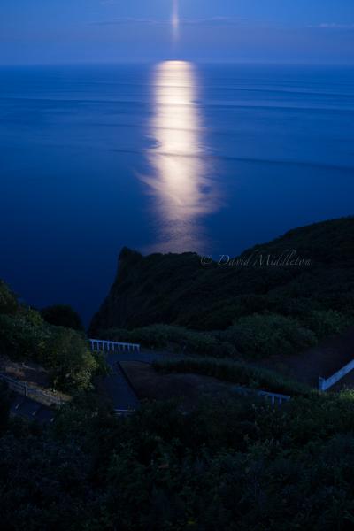 月夜の地球岬