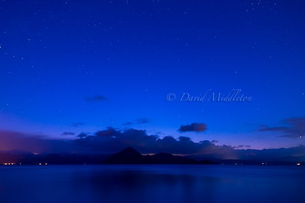 洞爺湖の星空