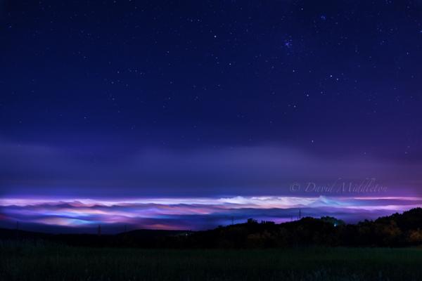 室蘭の霧と星空
