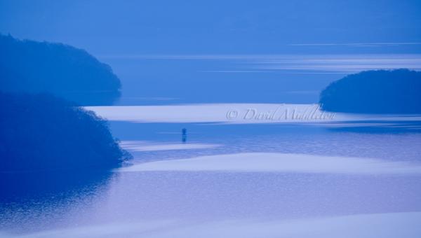 光の流れ 洞爺湖の浮見堂