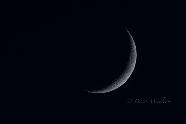 西の空の月