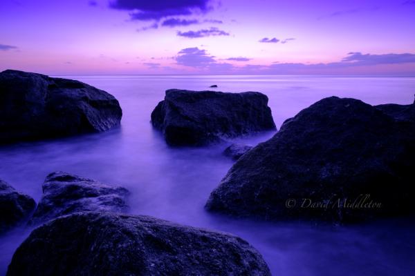 室蘭市イタンキ浜の夜明け