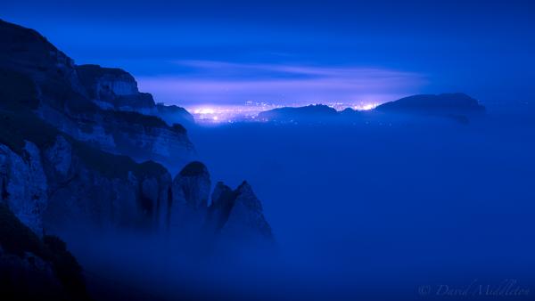 室蘭の霧の風景