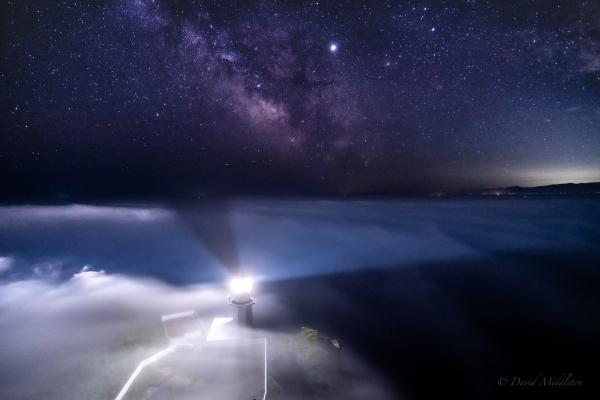 地球岬と天の川